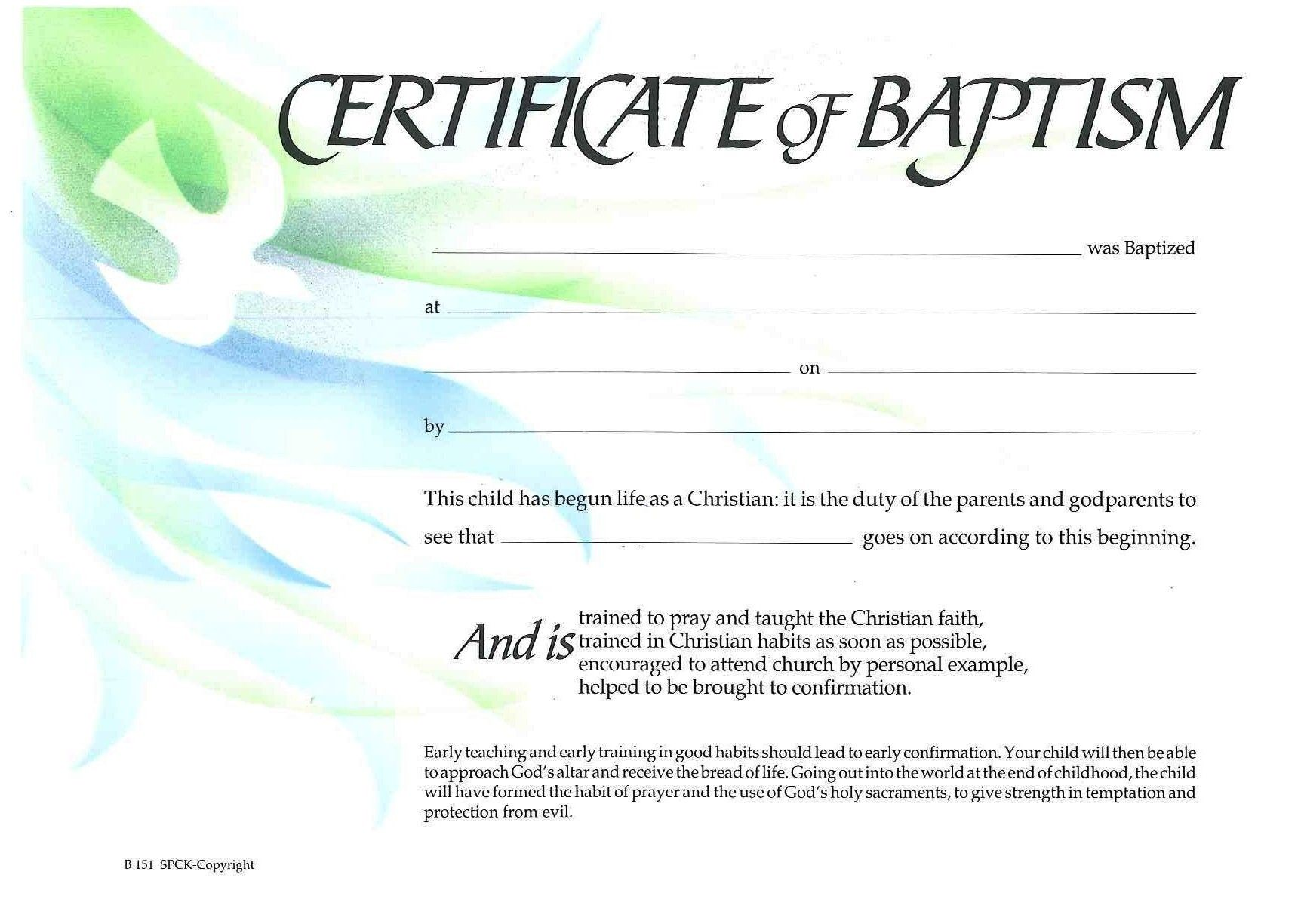 Baptism certificate xp4eamuz sunday school pinterest certificate of honor sample alramifo Choice Image