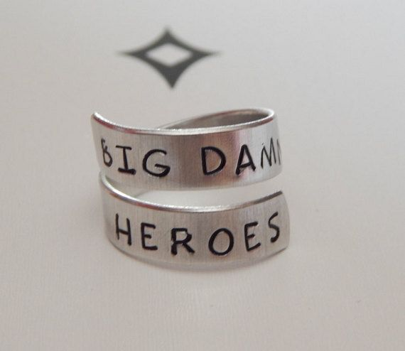 Big Damn Heroes Firefly Inspired Adjustable by FamilyHouseStampin #firefly #rings #etsyshop