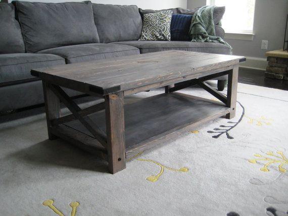 Rustic X Distressed Handmade Coffee Table Coffee Table Wood