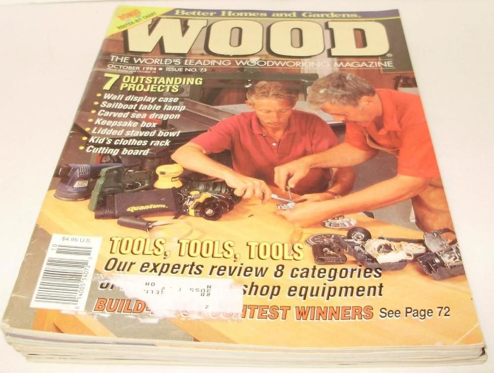 Superieur Vintage Better Homes U0026 Garden Wood Magazine Lot 5 1994 1995 1997 Free  Shipping
