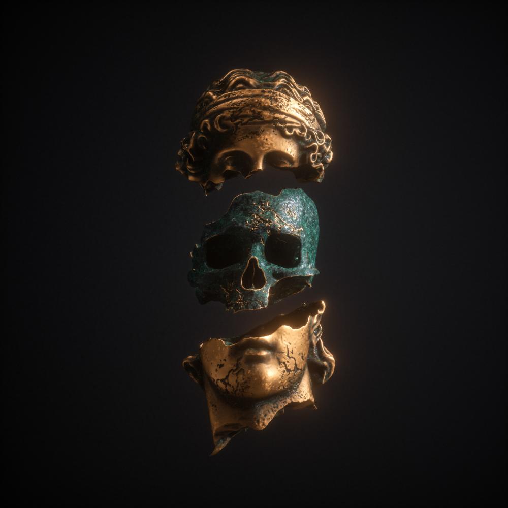 Album Covers - Apashe on Behance   Skull art, Surreal art, Album art