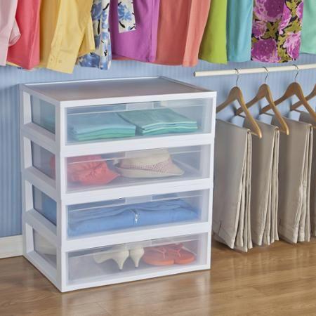 Sterilite Large Modular Drawer White Available In Case Of 3 Or Single Unit Walmart Com Modular Storage Sterilite Storage Closet Organization
