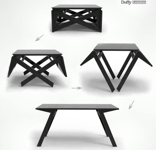 Mesa plegable en 2019 mesa de centro madera disenos de - Mesa plegable diseno ...