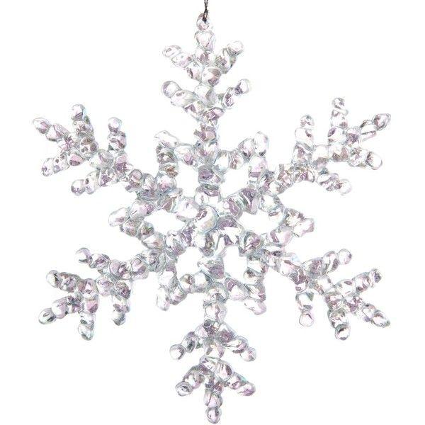 Clear Iridescent Acrylic Snowflake Ornament | Christmas | Elegant ...