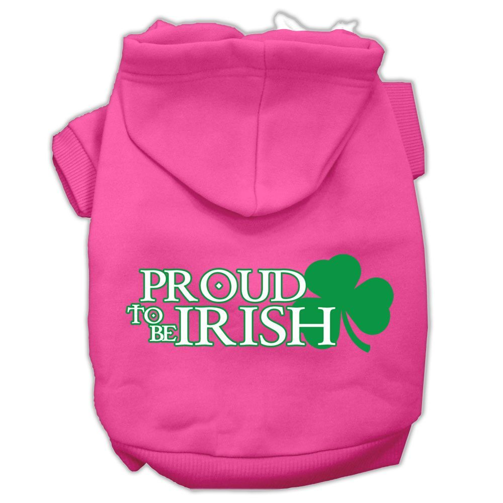 Basic Dog Hoodie (Screen Print) - Proud To Be Irish