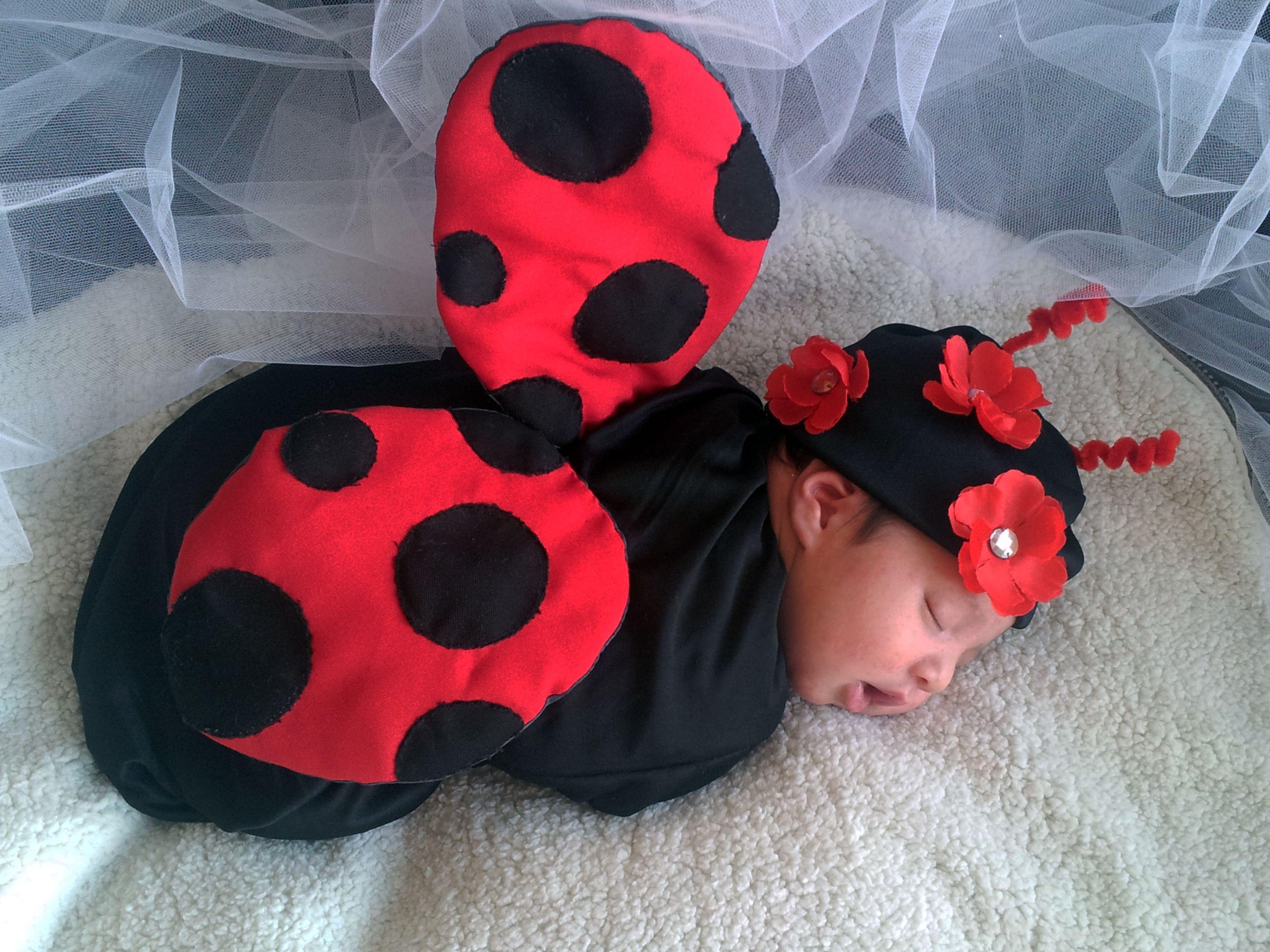 Wings Headband and Leg Warmers Skirt Baby Girl Halloween Costume Ladybug Costume