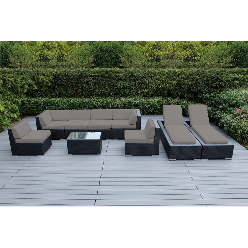 Sunbrella Sectional Set With Cushions