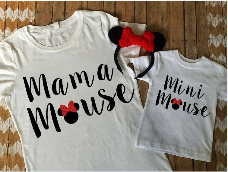 f23caa6f Mama Mouse Mini Mouse Matching Shirt Set, Disney Shirt, Mommy & Me Set, Minnie  Mouse, Matching Mouse Set by…
