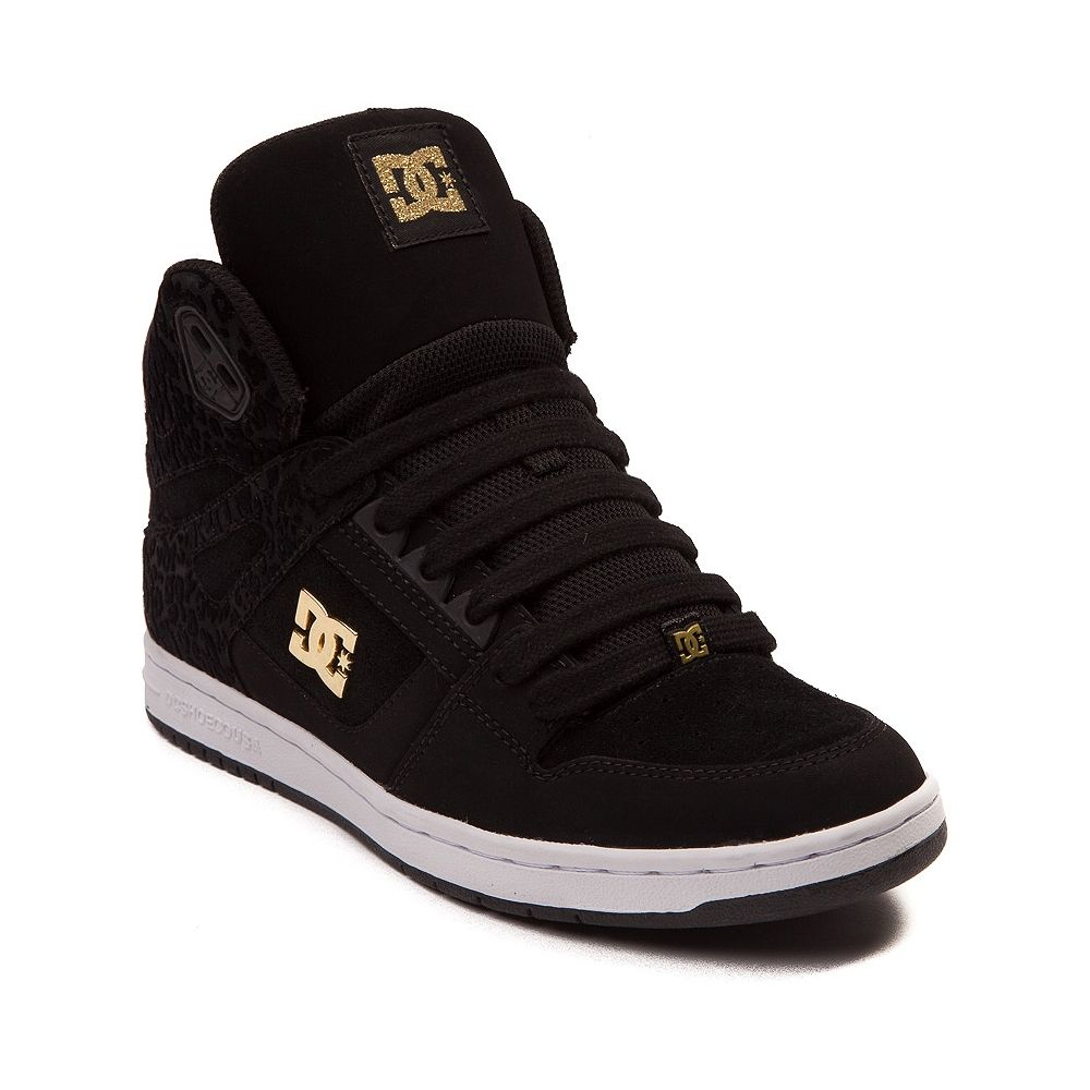 dc shoes high tops black and gold. take a walk on the wild side with rebound hi skate sneaker from dc! kick start your ensemble shoe, flaunting hi-top design dc shoes high tops black and gold e