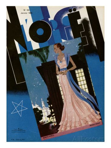 L'Officiel, January 1935 - Monte-Carlo/Maggy Rouff Taidevedos