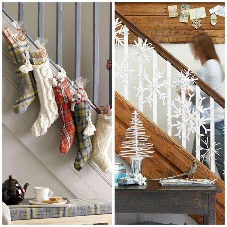 Noël déco escalier  ornements magnifiques pour lu0027intérieur