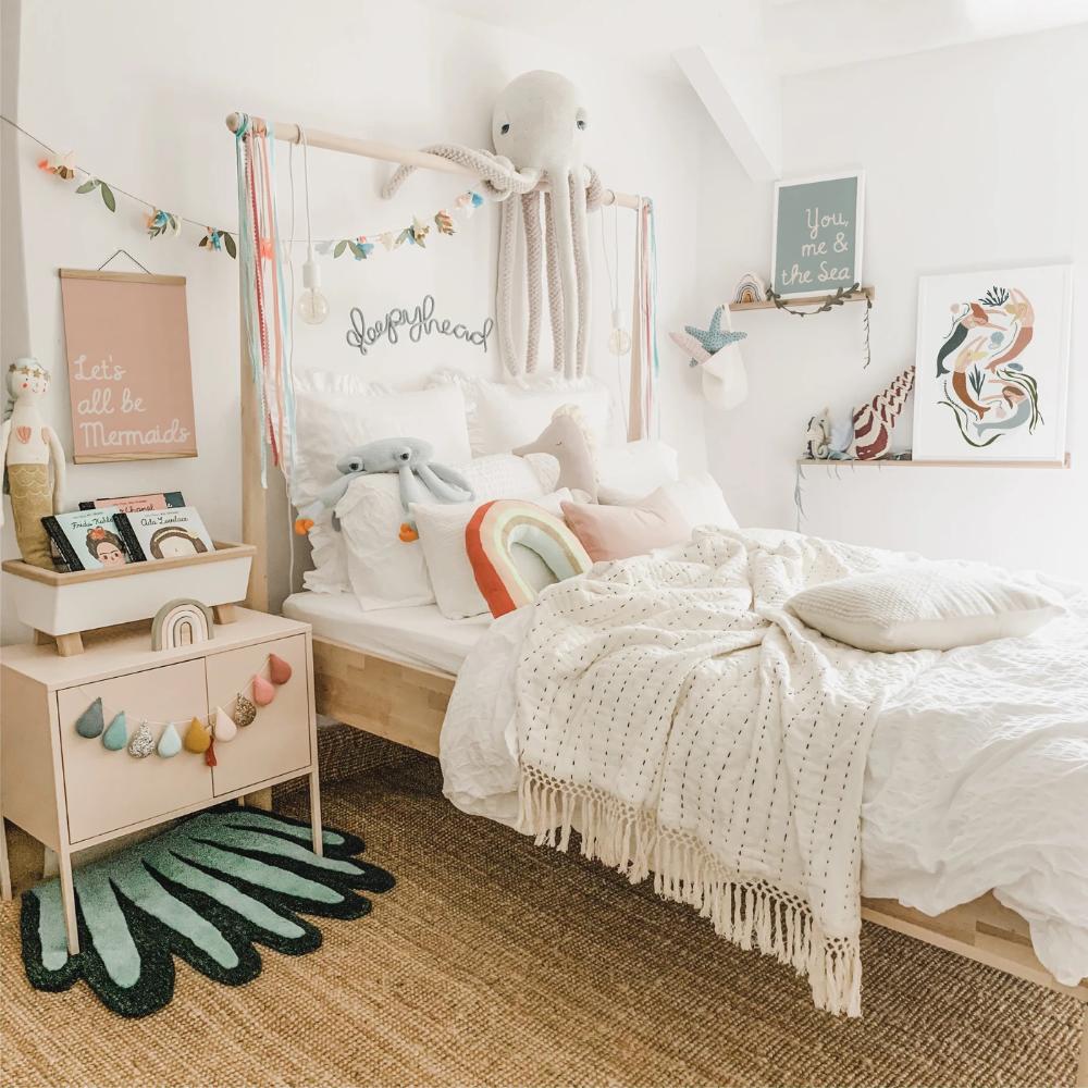 Mermaids Girls Bedroom Decor Canvas In 2020 Kids Bedroom