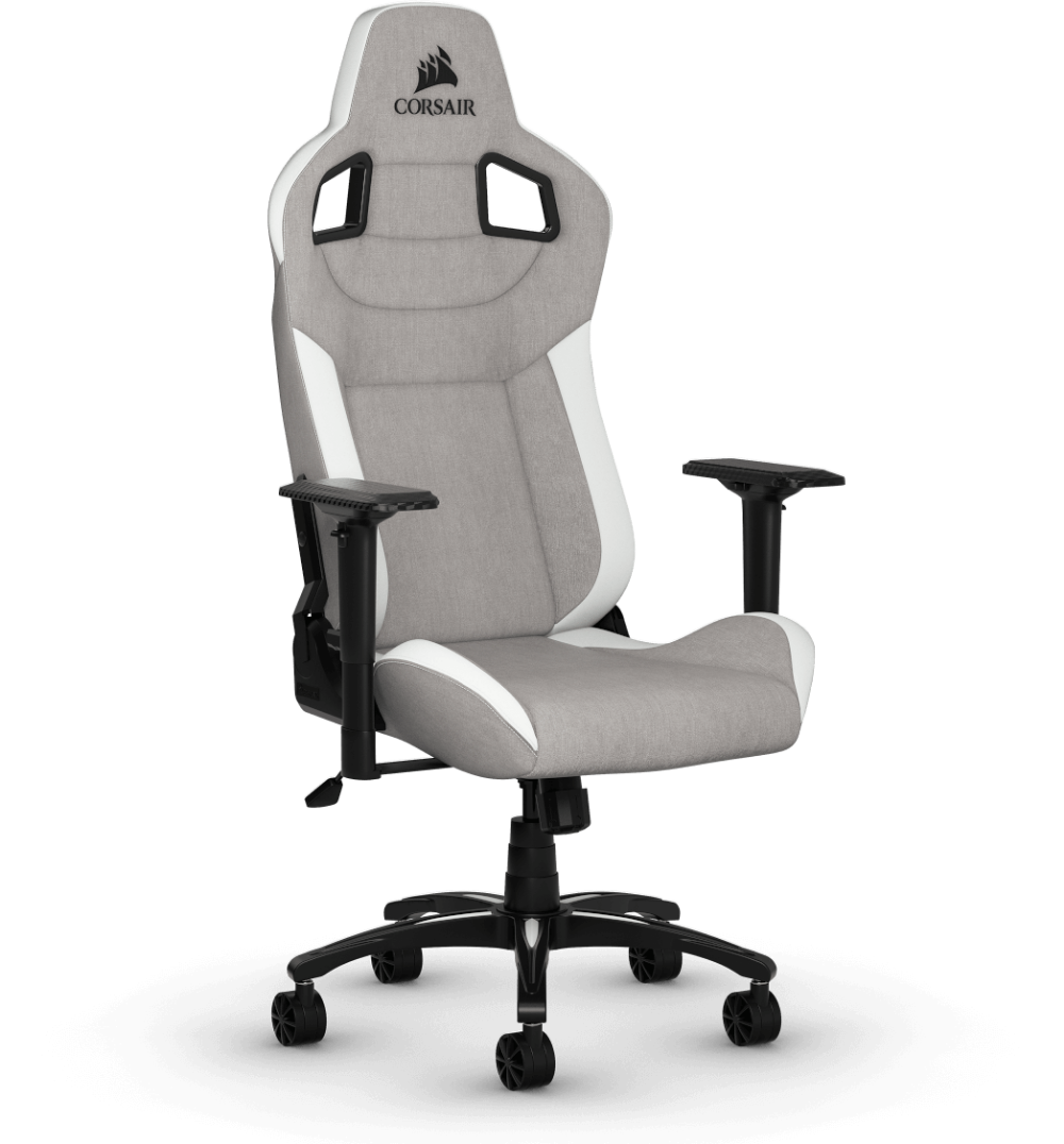 T3 Rush Gaming Chair Gray White Gaming Chair Chair Grey Chair