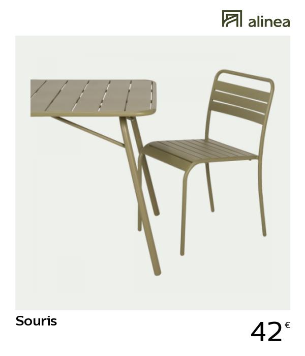 alinea #decoration SOURIS Chaise de jardin empilable en ...