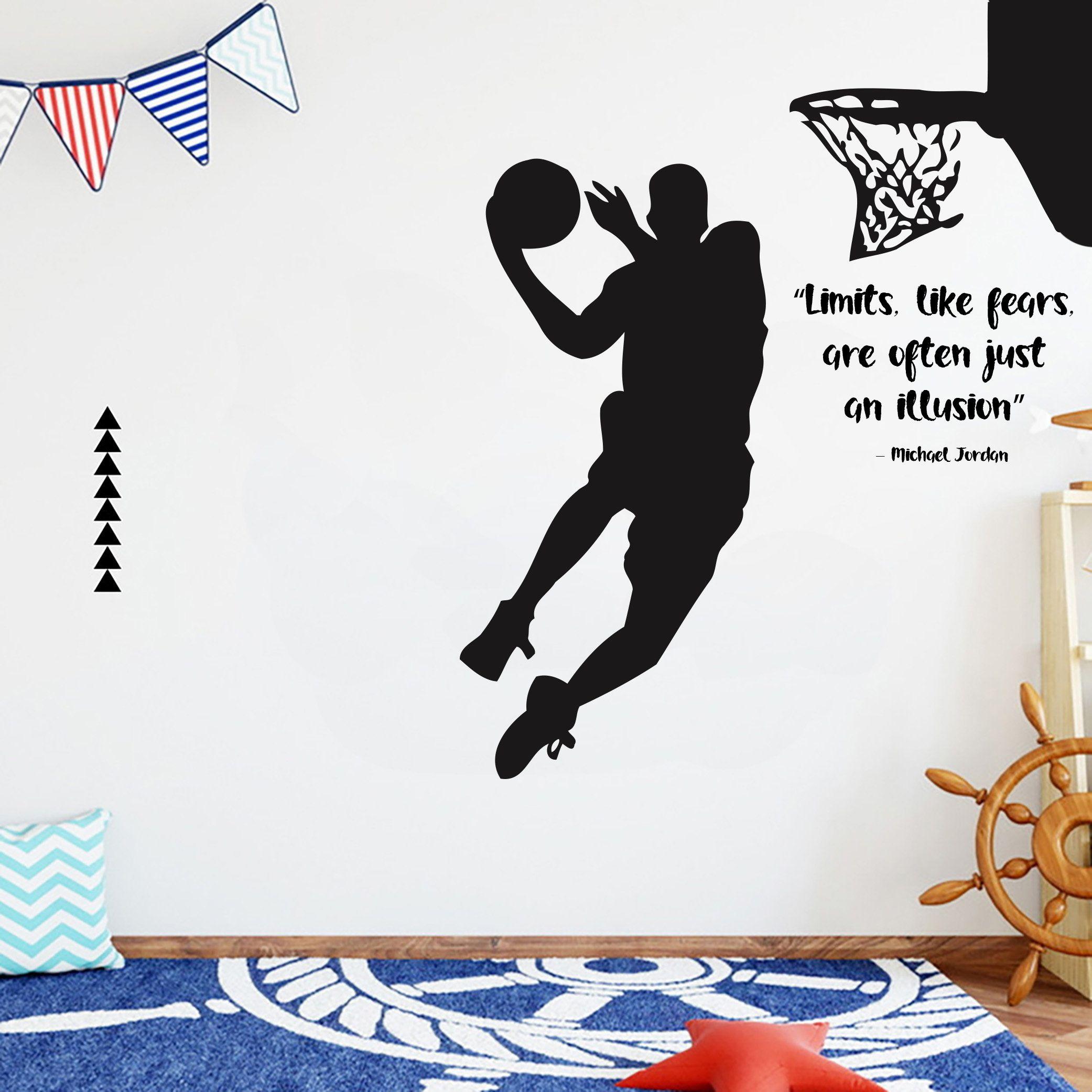 Basketball Quote Custom Wall Decal Sport Vinyl Nba Boys Basket Etsy Sports Wall Decals Kids Room Wall Stickers Custom Wall Decal