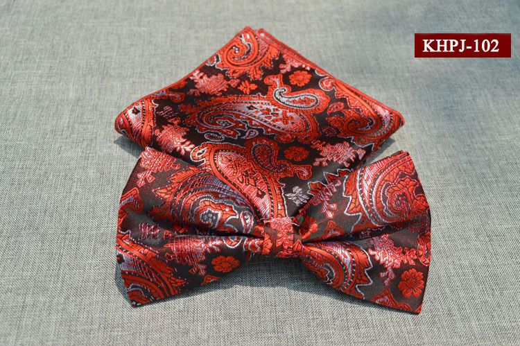 Мода старинные мужские Bowties цветочный принт платок комплект для мужчин свадебный смокинг ну вечеринку свободного покроя галстук бабочку + карманный площадь платки купить на AliExpress