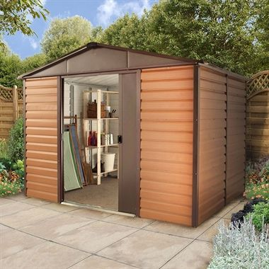10x12 Yardmaster Balmoral Metal Shed 1012wgl With Floor Support Kit Metal Shed Shed Garrison House