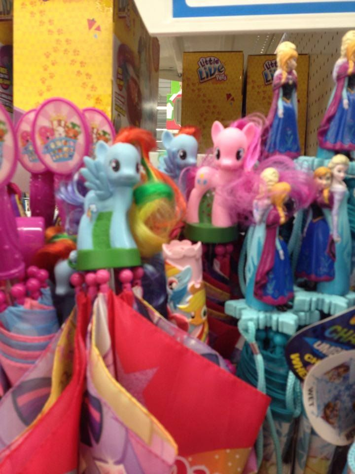 MLP Umbrella With Rainbow Dash Figure Spotted