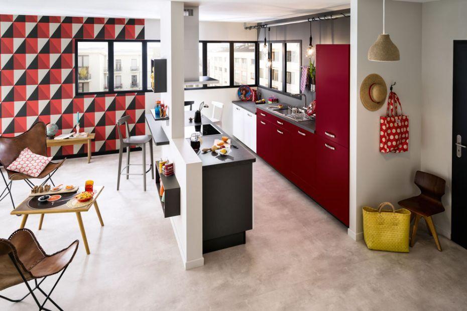 Cuisine Rouge Et Blanc Modele De Cuisine Sangria Par Socoo C Cuisine Rouge Cuisine Moderne Cuisine Rouge Et Blanche