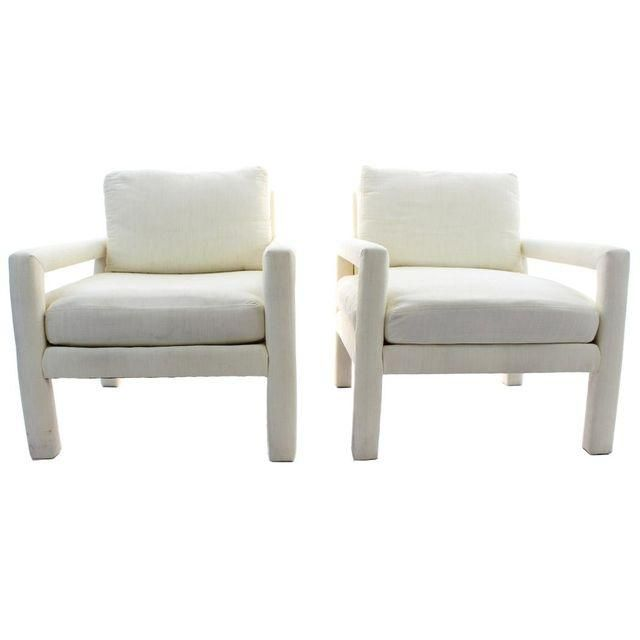 Image Of Milo Baughman Parsons Style Club Chairs   A Pair