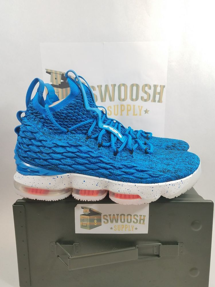 huge discount bb015 cae9a Details about NIKE LEBRON XV 15 HARDWOOD CLASSIC 897648 400 ...