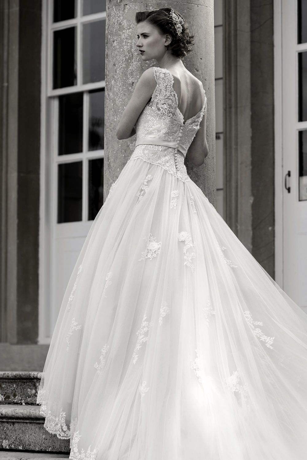 Blossom Stunning full length bridal gown with lace