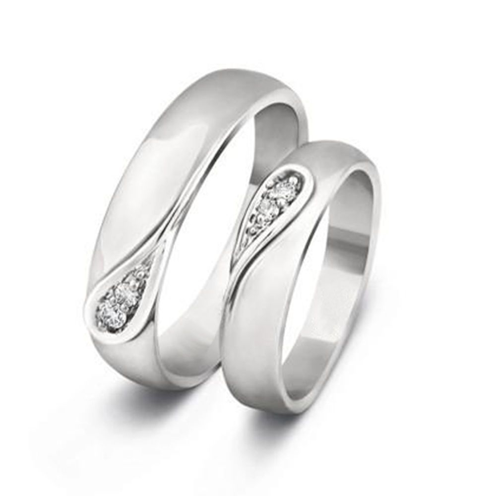 band engravable the zircon silver at his bands hers ring matching nora couple two rings glitteray index tone jewellery