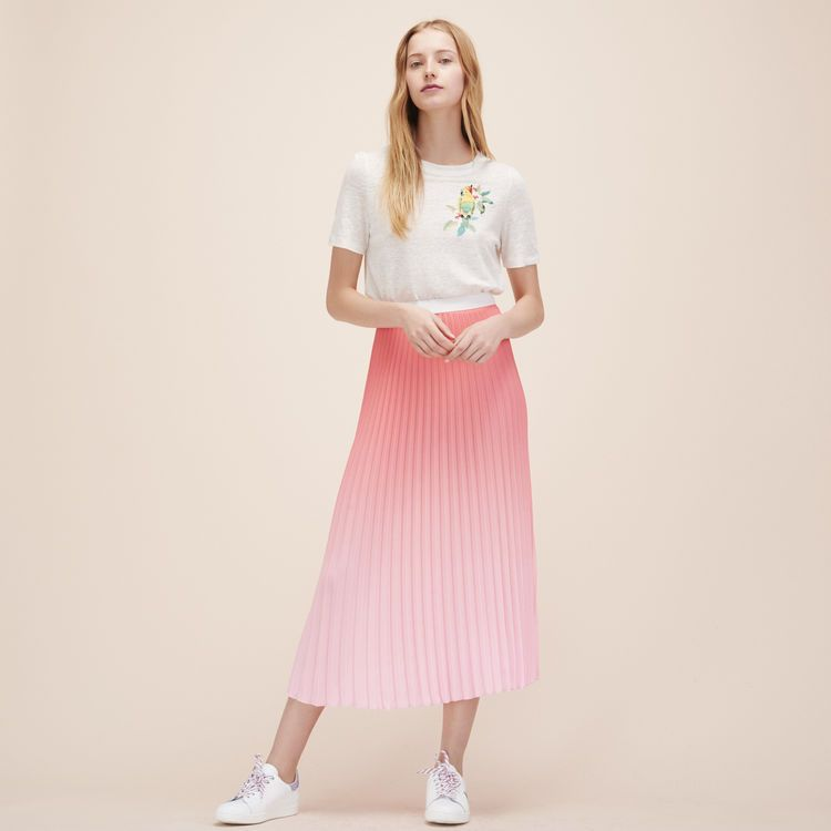 laest technology newest collection fashionablestyle Maje pleated pink midi skirt | Recreating my wardrobe ...