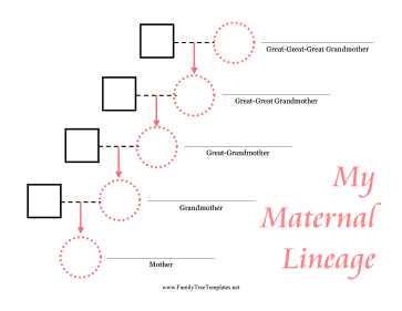 This Maternal Lineage Pedigree Chart Tracks Up To The Great