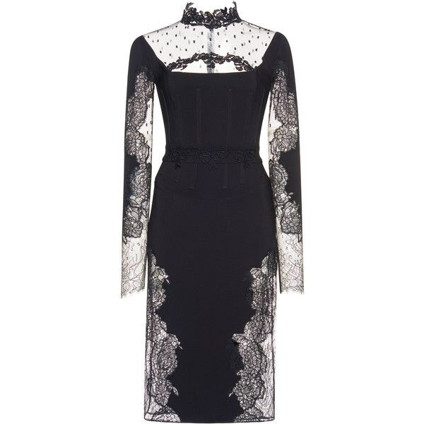 Zuhair Murad Short Cady Inlaid Lace Mini Dress (76.773.340 VND ...