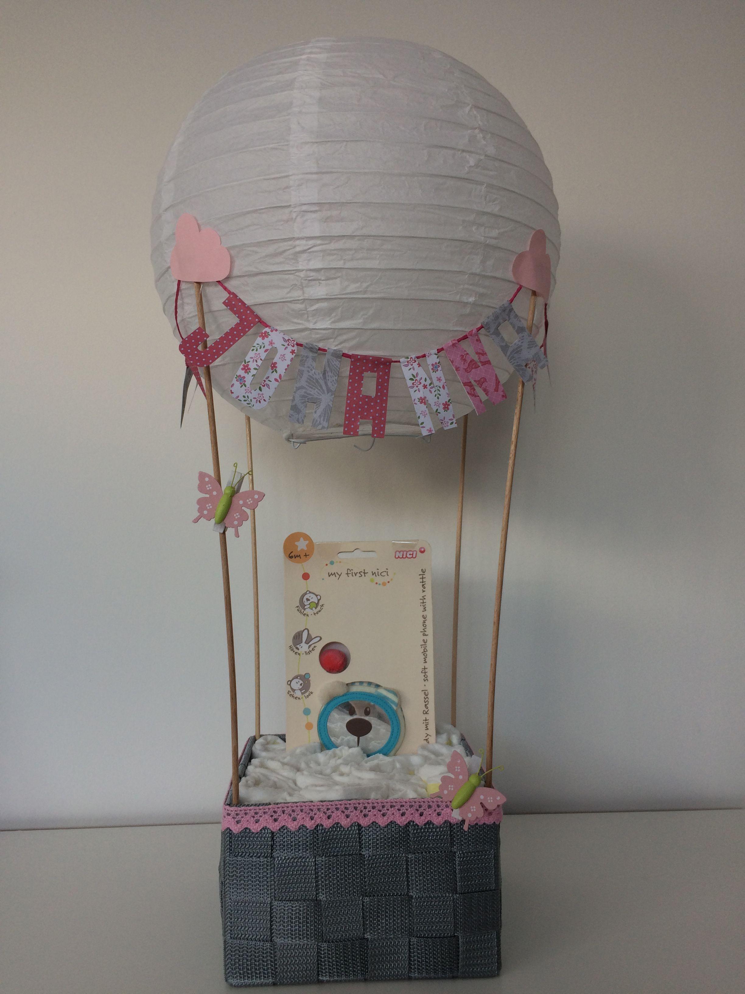 hei luftballon als geschenk zur geburt geschenk zur geburt pinterest babies. Black Bedroom Furniture Sets. Home Design Ideas