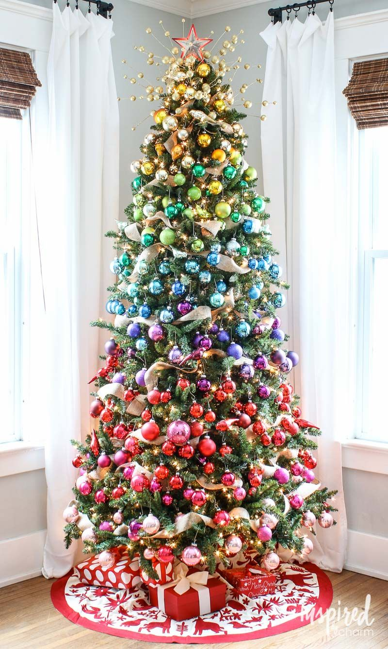 Gradient Rainbow Christmas Tree Decorations From Inspiredbycharm Rainbow Christmas Tree Rainbows Christmas Creative Christmas Trees