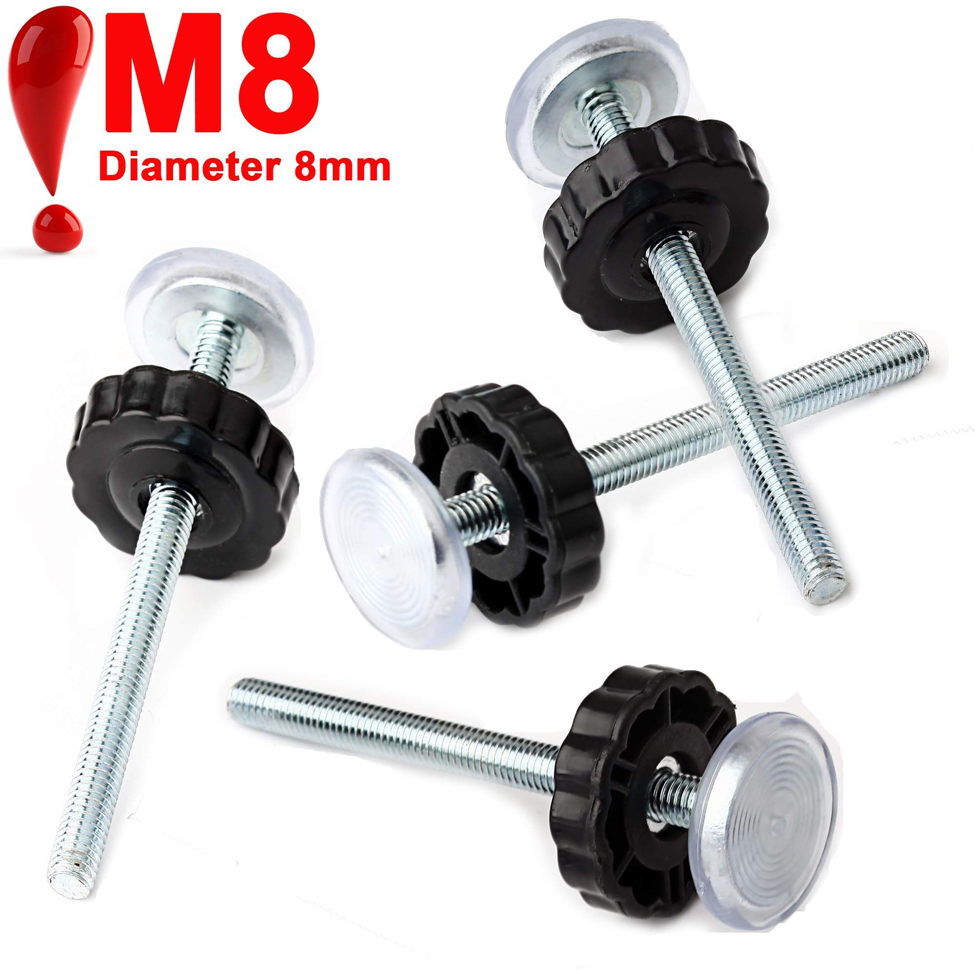 4 Pack 8mm Threaded Spindle Rods For Baby Gate Replacement Hardware Parts Kit For Pet And Dog Pressure Mounte Baby Gates Safety Gate Narrow Baby Gate