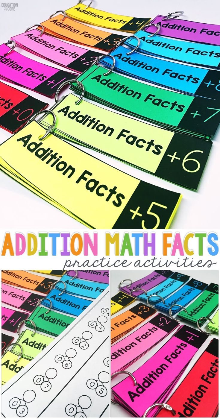 Addition Math Facts Practice Activities   Number bonds worksheets ...