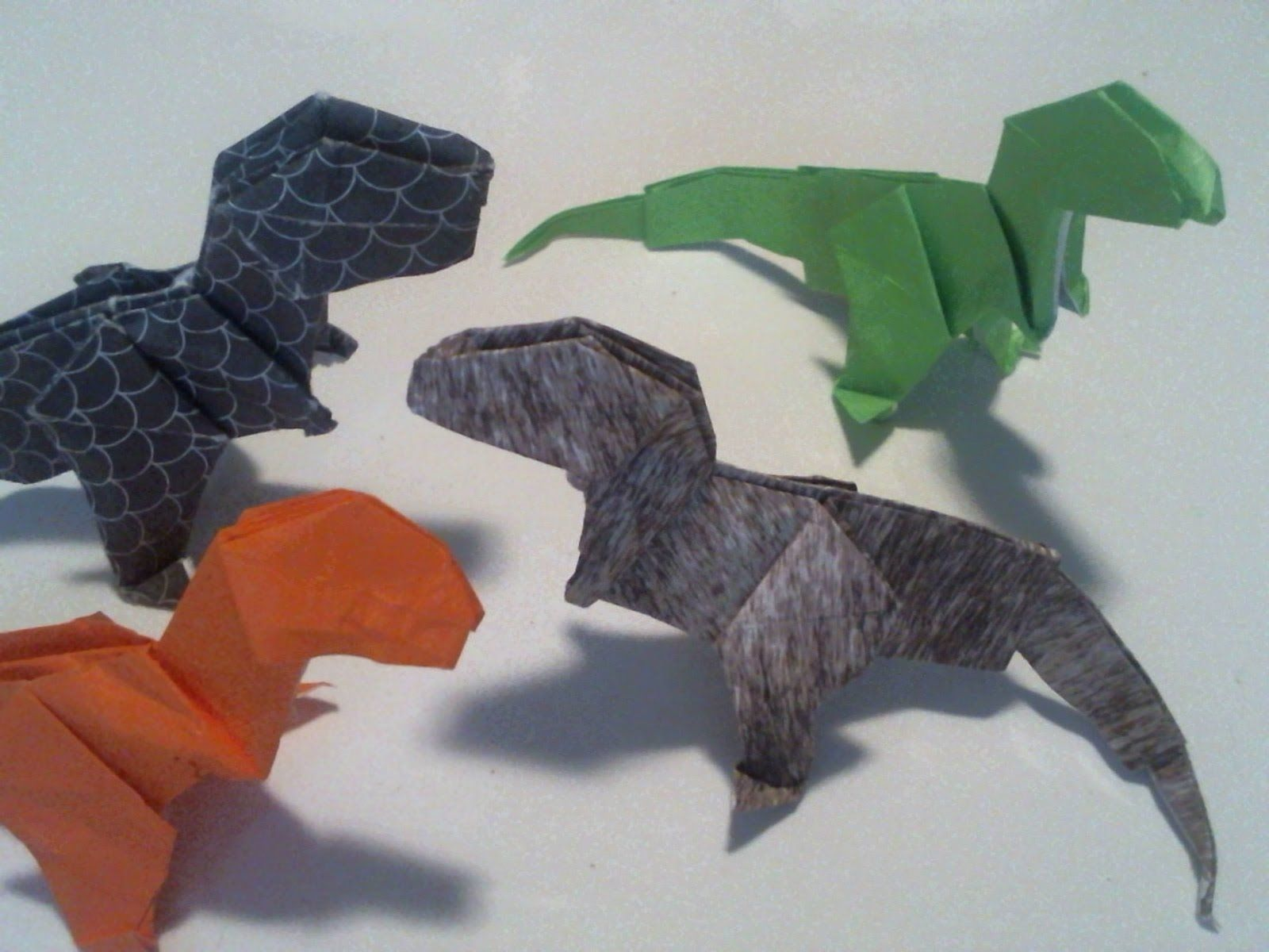Origami T-Rex by Fernando Gilgado - tutorial - YouTube | 1200x1600