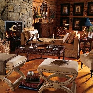 English hunting lodge style decor