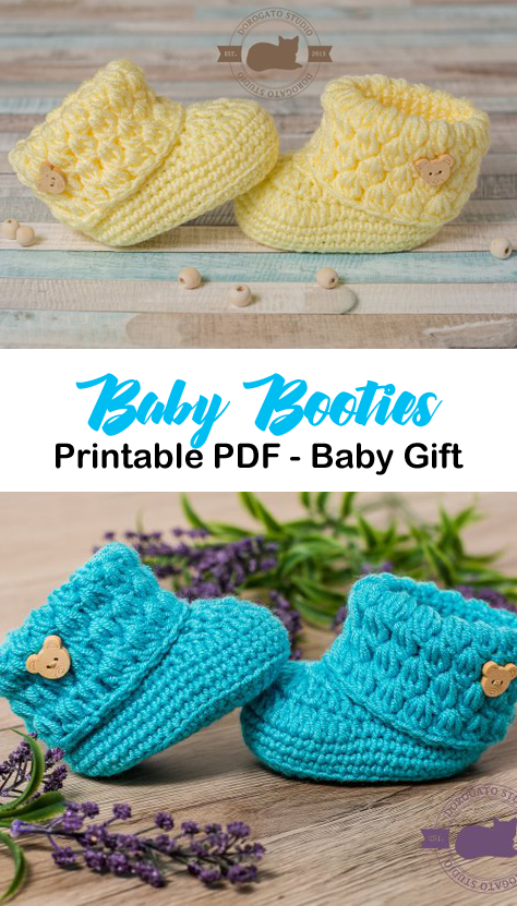 Make a Cute Pair of Baby Booties