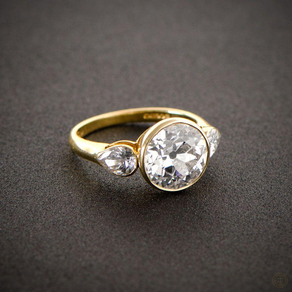 English Vintage Style Engagement Ring