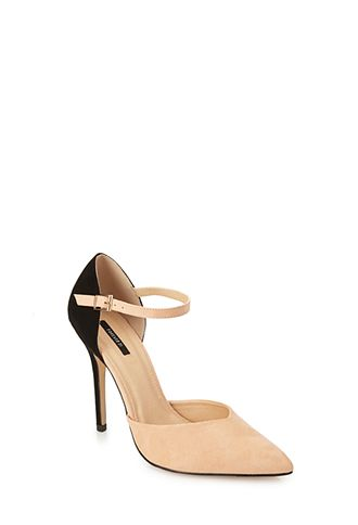 Colorblocked Faux Suede Heels | FOREVER 21 - 2000120161