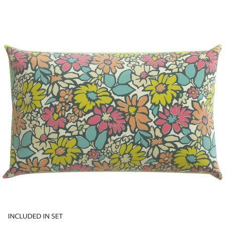 Retro Floral Bedding | Bonnie Citrus Pink & Turquoise at Bedeck 1951