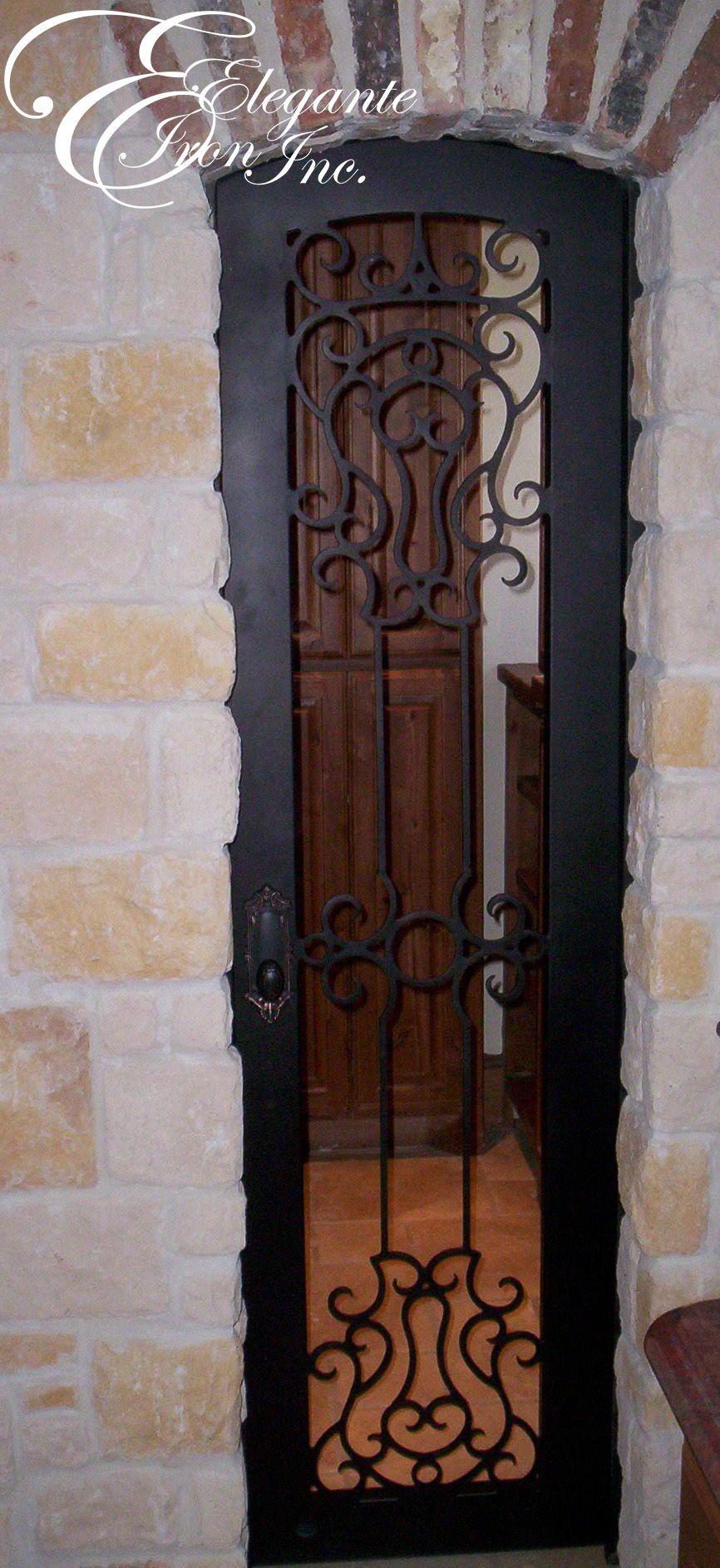 Custom Wrought Iron Wine Door.