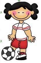 imagen de niña haciendo deporte para imprimir  Imagen de niña con pelota de  futbol e946ac573869a