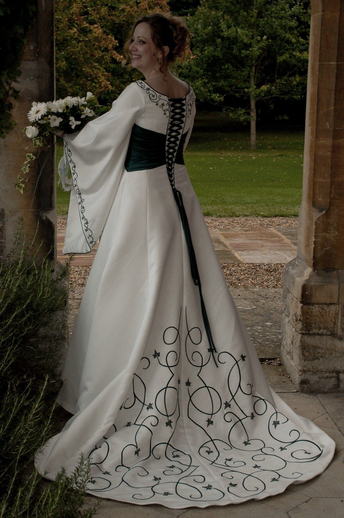 Medieval Wedding Dresses Fairy Celtic Wedding Dresses By Rivendell Bridal In The Uk Celtic Wedding Dress Scottish Wedding Dresses Modern Short Wedding Dress