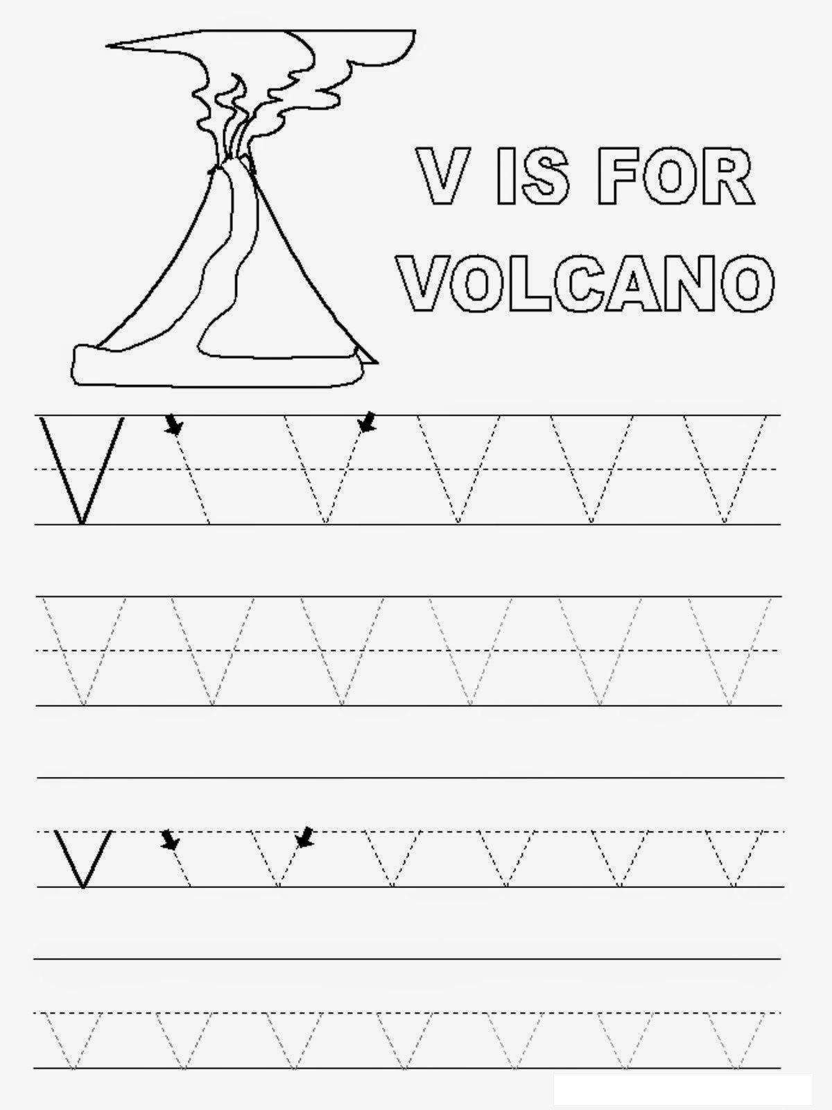 Volcano Worksheets For Kindergarten Free Printable Volcano