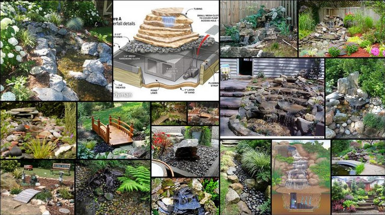 backyard waterfalls diy 3 pinterest fountain ideas garden