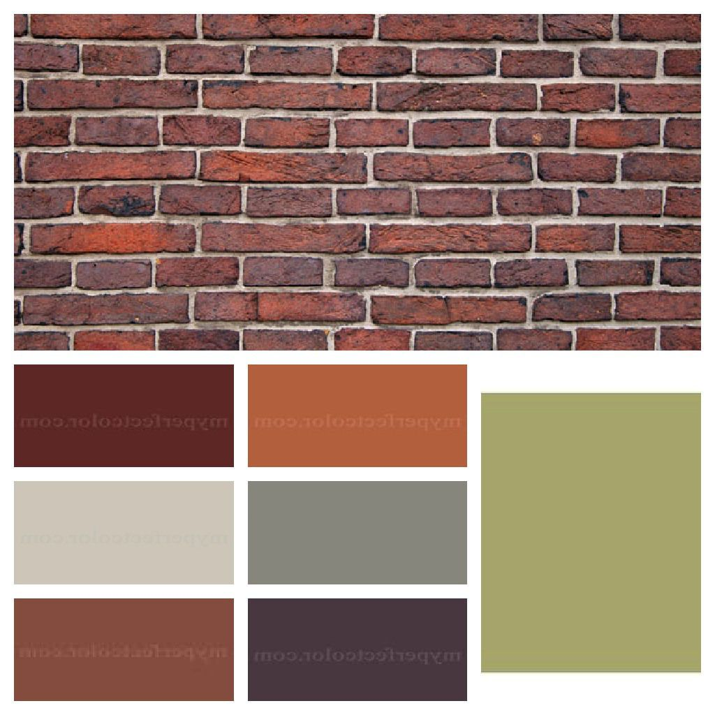 Interior paint colors that go with red brick house paint pinterest bricks interiors and Exterior paint with red brick