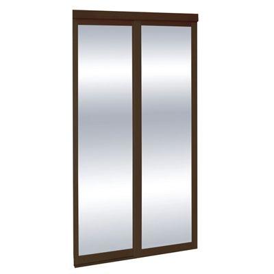 Espresso Mirror Sliding Closet Interior Door  sc 1 st  Pinterest & Espresso Mirror Sliding Closet Interior Door | *Loweu0027s Canada ...