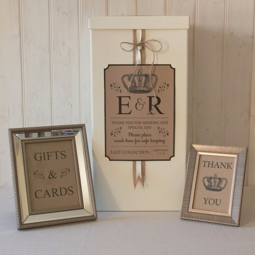 Personalised Wedding Card Post Box Hessian Twine Traditional Gifts Cards Signs In Home Furniture Diy Supplies Boxes Ebay: Gift Card Box Ideas Wedding Signs At Reisefeber.org