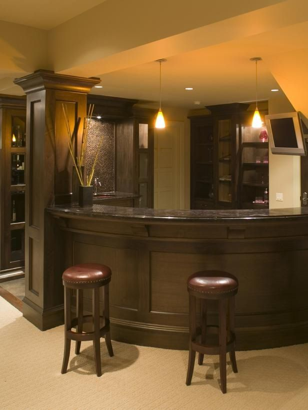 Very nice curved bar | Front room | Pinterest | Bar, Front rooms and ...