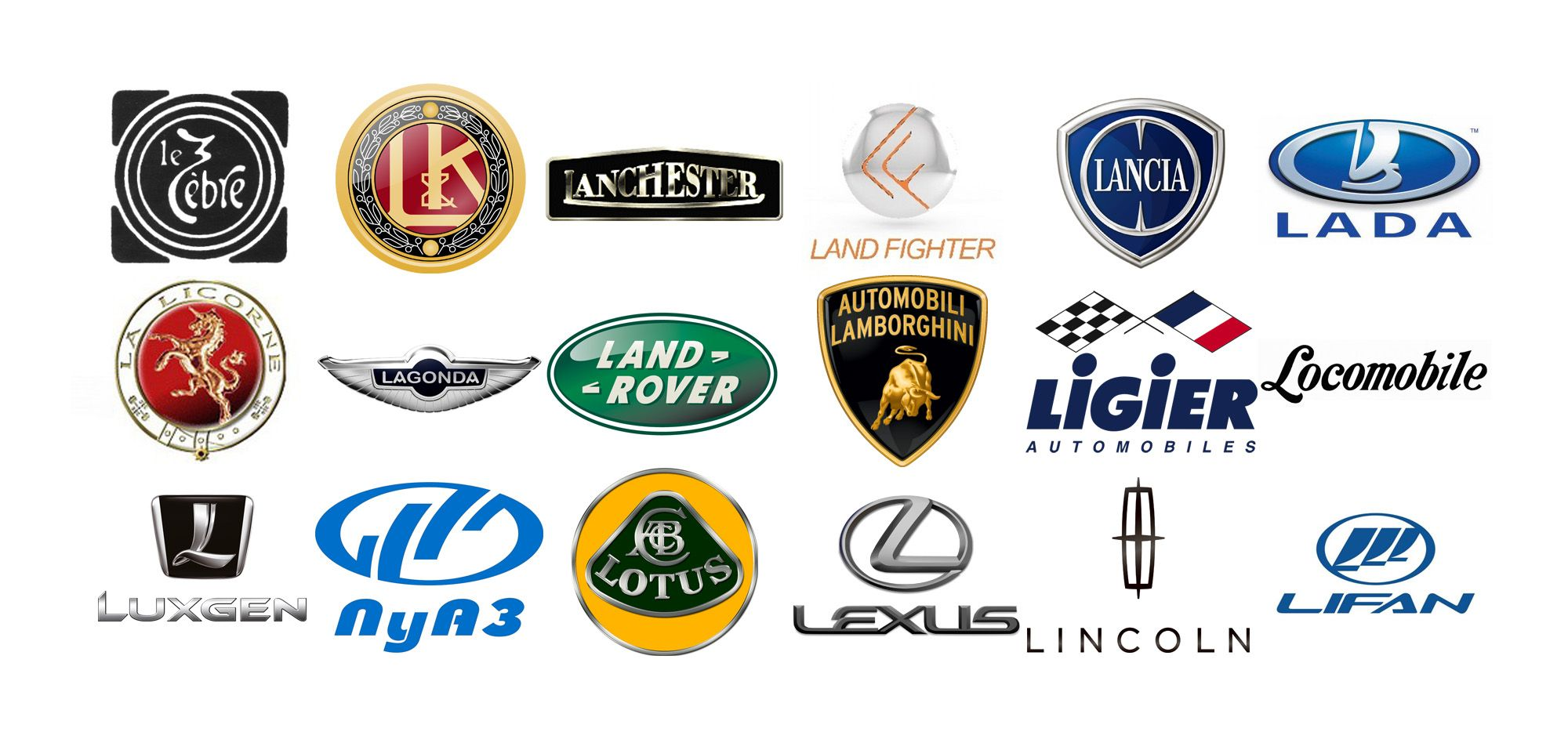 Car Brands Starting With L_492 Car brands, New and used